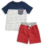 Kids Headquarters Boys 2-7 Little Boys Pocket Tee and Shorts Set