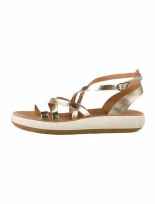 Ancient Greek Sandals Leather Gladiator Sandals Gold