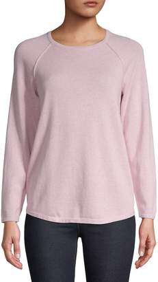 Karen Scott Petite Raglan-Sleeve Cotton Sweater