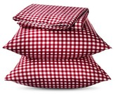 Nobrand No Brand Elite Home Gingham Sheet Set - Red (Twin)