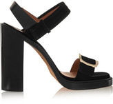 Givenchy Buckled Sandal In Black Suede - IT40