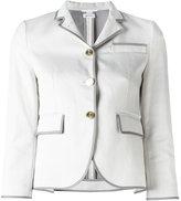 Thom Browne piped trim blazer - women - Cotton/Silk - 38