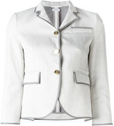 Thom Browne piped trim blazer - women - Silk/Cotton - 38