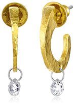 "Gurhan Dew"" High Karat Gold with White Diamond Briolette Hoop Earrings"