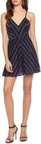 Dress the Population Trista Metallic Detail Fit & Flare Minidress