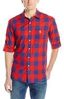 U.S. Polo Assn. Men's Long Sleeve Slim Fit Madras Plaid Shirt