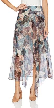BCBGMAXAZRIA Women's Draped Maxi Skirt