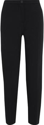 Iris & Ink Caroline Satin-trimmed Crepe Straight-leg Pants