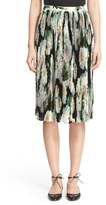 ADAM by Adam Lippes Women's Pleated Floral Print Skirt