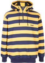 Palace striped logo print hoodie