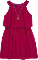 BY AND BY GIRL Byer Berry Chiffon A-Line Popover Skater Dress - Girls 7-16