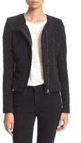 IRO Asymmetrical Zip Knit Jacket
