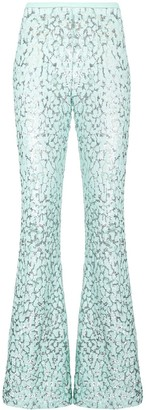 Michael Kors Embroidered Flared Trousers
