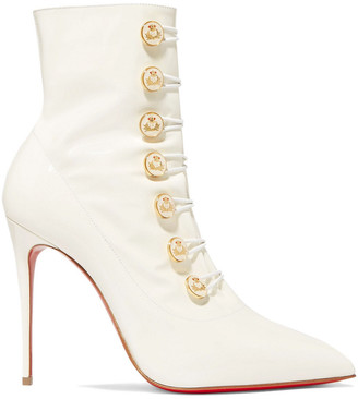 Christian Louboutin Liossima 100 Patent-leather Ankle Boots