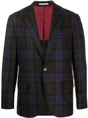 Brunello Cucinelli Check Single-Breasted Blazer