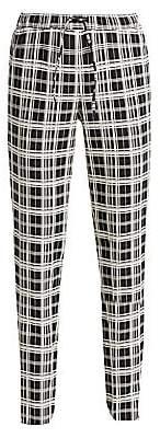 Akris Punto Women's Mike Monochrome Check Pants