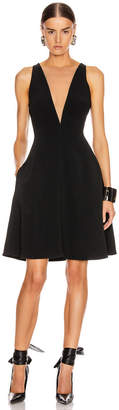 Stella McCartney Parkes Evening Deep V Dress in Black | FWRD