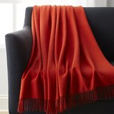 Crate & Barrel Lima Alpaca Mandarin Orange Throw