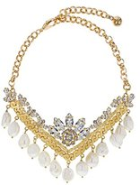 Shourouk Women's Gold Plated Keops Statement Necklace of Length 15.0-19.0cm