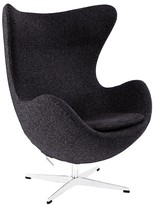 The Well Appointed House Organic Dark Gray Natural Wool Lounge Glove Chair - CURRENTLY ON BACKORDER -