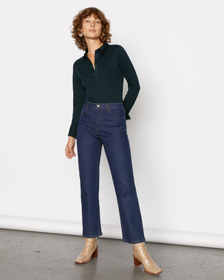 Jigsaw Silk Collar Jersey Shirt