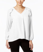 NY Collection Ruffled Blouse