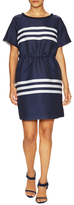 Jil Sander Navy Crewneck Cotton Short Dress
