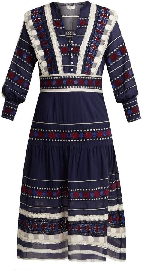 Sea Ila Lace Armour cotton dress