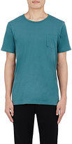 Solid & Striped MEN'S PATCH-POCKET T-SHIRT-TURQUOISE SIZE S