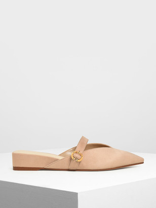 Charles & Keith V-Cut Low Wedge Mules