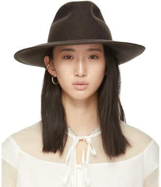Cherevichkiotvichki Brown Wool Wide Brim Hat