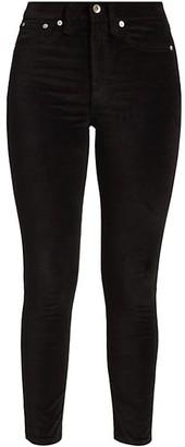 Rag & Bone Nina High-Rise Velvet Skinny Pants