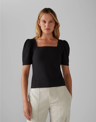 Club Monaco Puff Sleeve Top