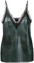 House of Holland 'Chainmail' slip blouse - women - Polyester - 6