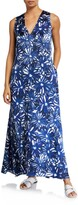 Thumbnail for your product : MARIE FRANCE VAN DAMME V-Neck Floral-Print Long Coverup Dress