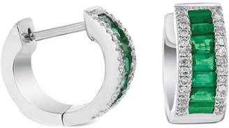 Diana M Fine Jewelry 18K 1.32 Ct. Tw. Diamond & Emerald Earrings