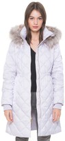 Juicy Couture Faux Fur Hood Puffer Coat