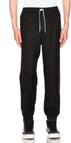 Alexander Wang Checkerboard Track Pant in Black.