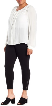 Hue Ankle Zip Simply Stretch Skinny Pants (Plus Size)