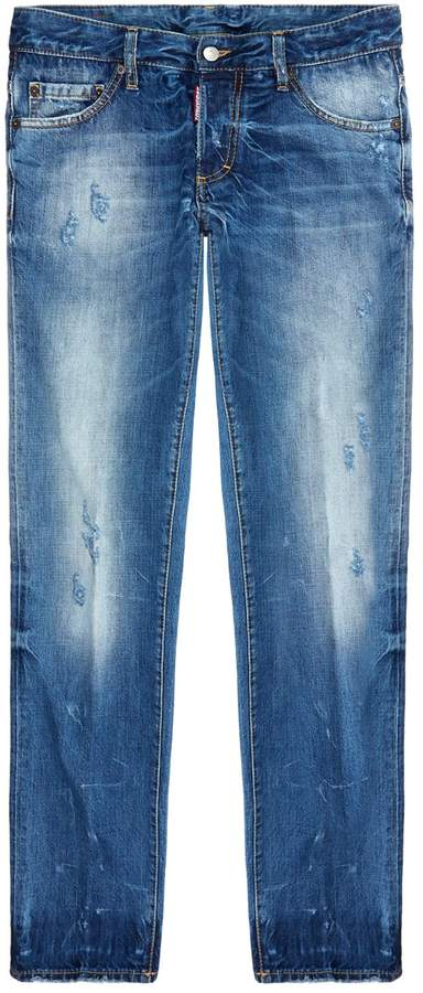 DSQUARED2 Slim Fit Heavily Distressed Jeans