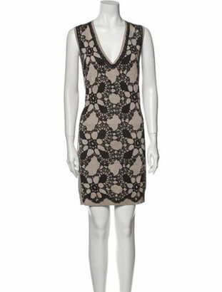 Dolce & Gabbana Silk Mini Dress Black