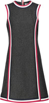 Thom Browne Cricket silk faille-trimmed wool dress