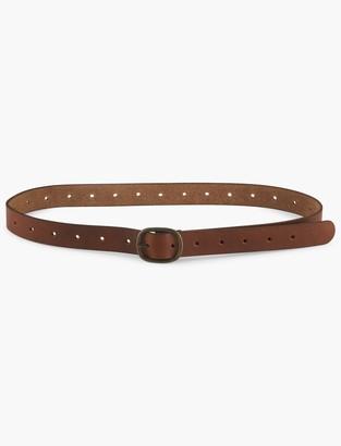 Pull Through Leather Belt