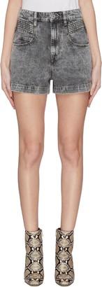 Etoile Isabel Marant 'Hiana' acid wash denim shorts