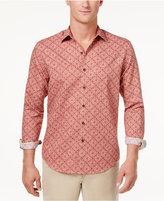 Tasso Elba Men's Linen Ginito Tile-Print Shirt, Created for Macy's