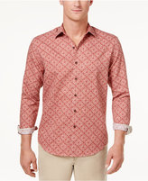 Tasso Elba Men's Linen Ginito Tile-Print Shirt, Only at Macy's