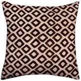 Found Object Diamond Square Pillow