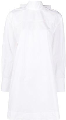 Ganni Bow Detail Shirt Dress