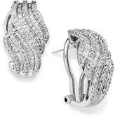 Wrapped in LoveTM Diamond Twist Earrings in Sterling Silver (1 ct. t.w.)