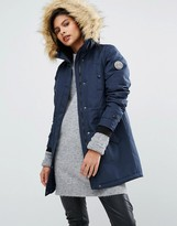 Vero Moda Parka With Faux Fur Collar